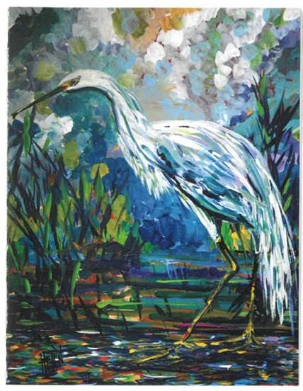 egret artwork