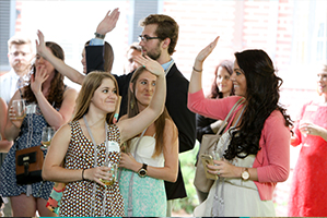 Students at Senior Toast