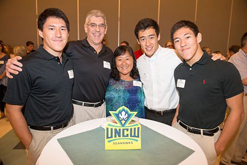 UNCW Legacies at the Pinning Ceremony