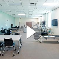 Movement Activities lab in UNCW's Veterans Hall