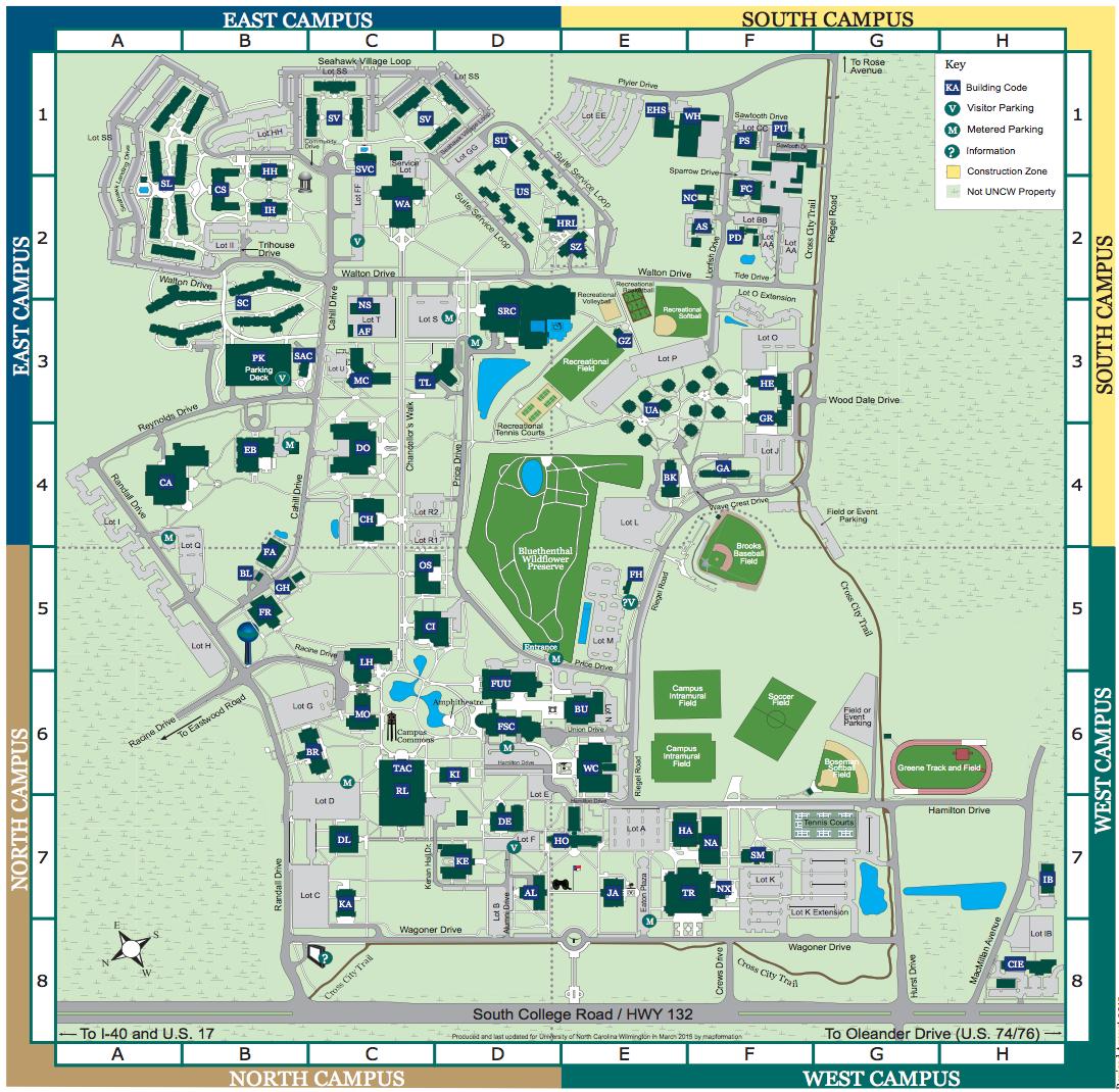 Uncw Campus Map Uncw Campus Map   CYNDIIMENNA Uncw Campus Map