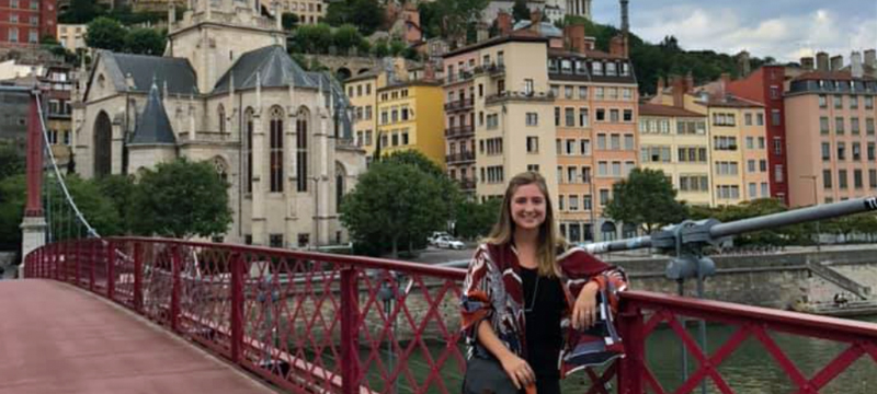 Emma Cowen during study abroad trip