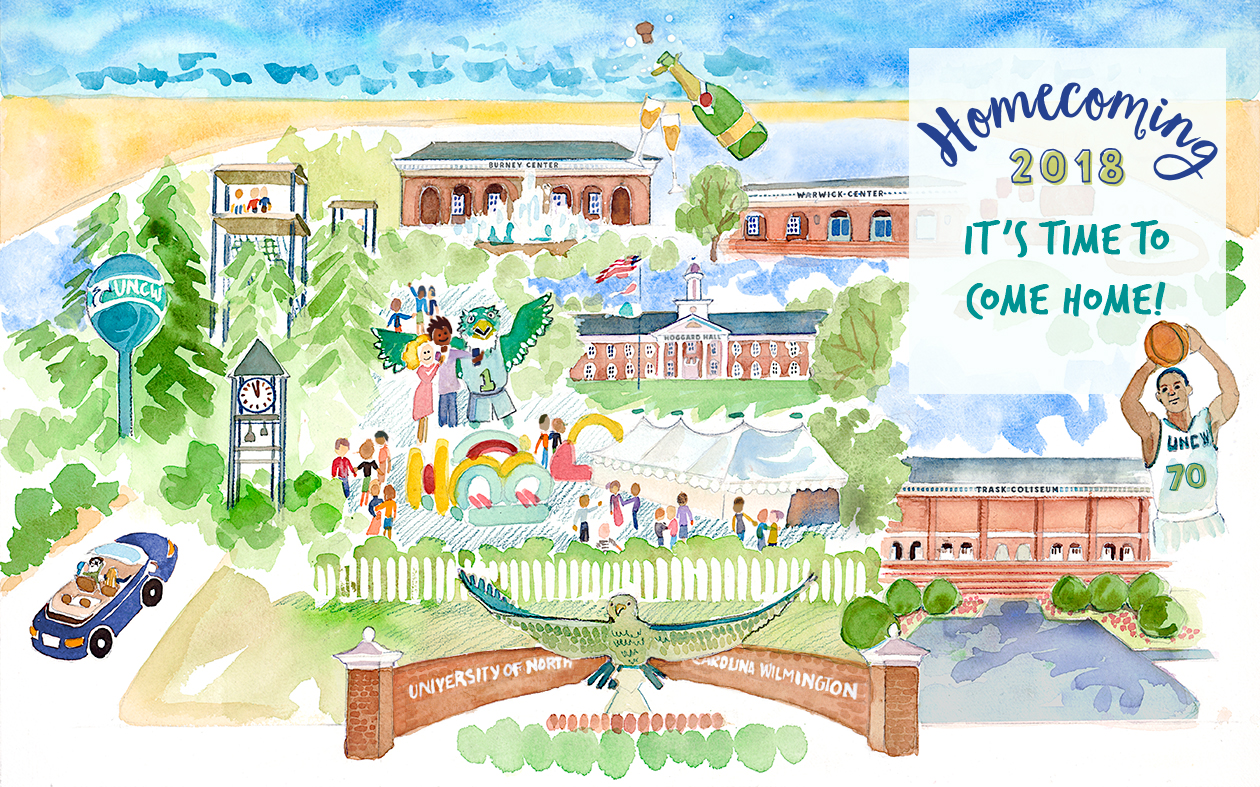 uncw homecoming campus map
