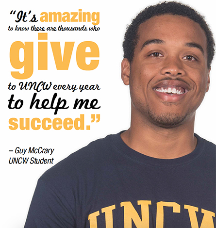 """""""It's amazing to know that there are thousands who give to help me succeed."""" UNCW Student"""