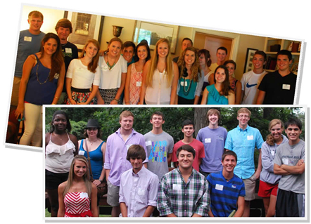 Group of incoming UNCW students