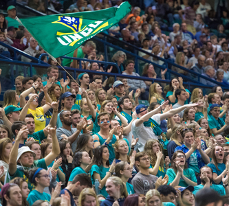 Student section at a UNCW basketball game